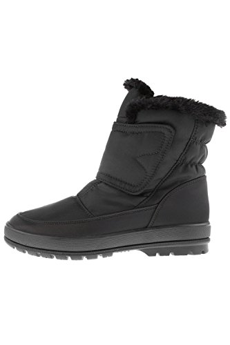 Ulla Popken Femme Grandes tailles Boots en fourrure 707270 Noir