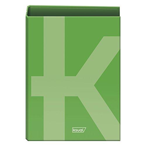 Dohe 50256 - Ksual, carpeta folio 4 anillas, 40 mm, color verde