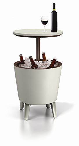 Keter Cool Bar - Mesa nevera para exterior, Blanco, 50x41x50 cm
