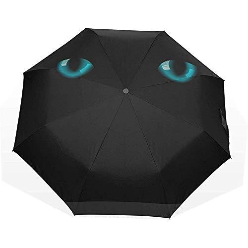 Ombrello carino occhi di gatto nell'oscurità 3 piega ombrelli artistici ombrellone decorativo ombrellone ombrello pieghevole