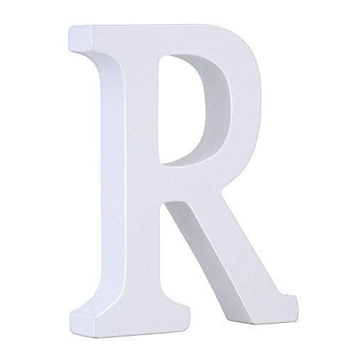 Weiße Holzbuchstaben 8cm von A-Z für Kinderzimmer oder Tür, persönliches Geschenk & Dekoration (Preis pro Buchstabe) (R)