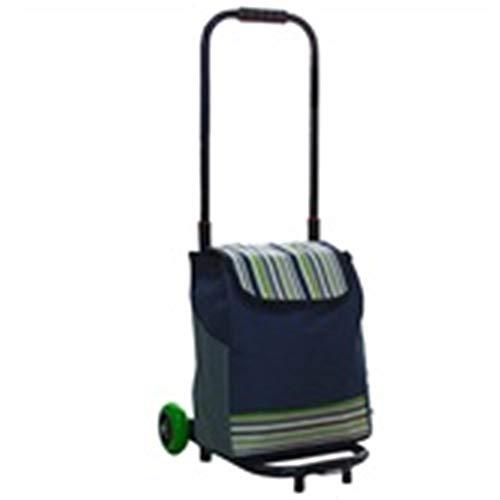 MKJYDM Trolley nach Hause Faltbare tragbare Stummlaufkatze Wagen Einkaufswagen Gepäckwagen LKW Anhänger 2 Doppelhaken elastische Seil kann 50 kg tragen Wagen (Color : B)