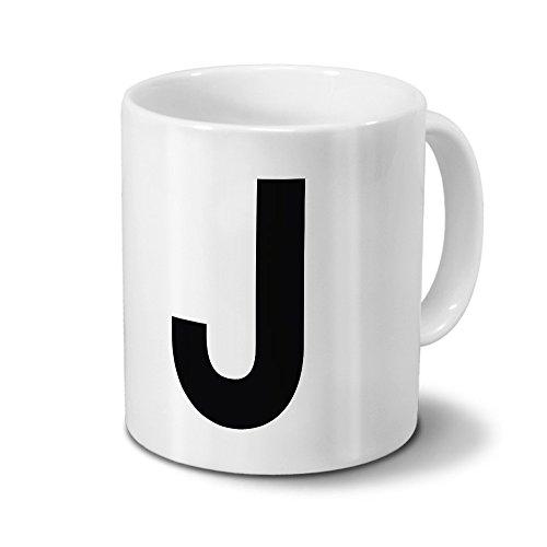 Tasse mit dem Buchstaben 'J' - Motiv Letters - Trend, Modern, Kaffeebecher, Mug, Becher, Kaffeetasse...