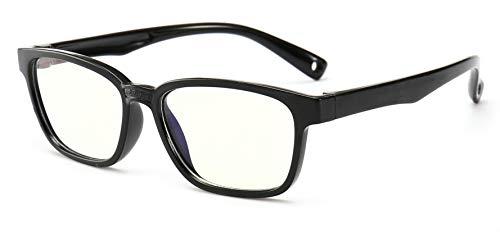 Occhiali anti blu per bambini Occhiali per computer, occhiali anti raggi UV Occhiali per computer Occhiali per videogiochi per bambini (Black)