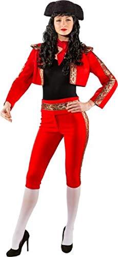 Damen Matador Kostüm - Damen Deluxe Red Matador Bull Fighter Spanish Around The World International Karneval Fasching Kostüm Outfit