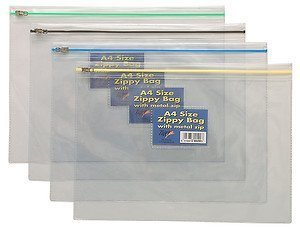 Kunst Portfolio (Tiger 12x A3Zippy starke Kunststoff transparent Speicherung von Dateien Dokument, Craft Kunst Ordner Portfolios)