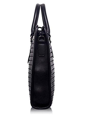 Xinmaoyuan uomini borsette uomini borsetta Genuine uomini Business Briefcase spalla di tessitura Messenger Bag,marrone Nero