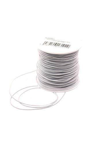 Creative-Beads Gummischnur elastisches Band 1mm Weiss 20m Perlen auffädeln basteln Armbänder Schmuck, Kette, Armband selbst machen