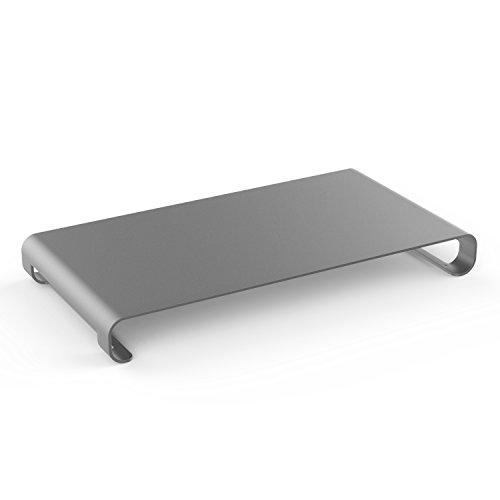 MoKo Monitor Ständer - Universal Aluminium Bildschirm Halter Halterung Stand mit Keyboard Storage für Monitor / Laptop / iMac / MacBook / PC Display, Space Grau