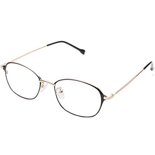 Blue Light Filter Computer Glasses for Blocking UV Headache [Anti Eye Eyestrain] Transparent Lens Gaming Glasses, Unisex (Men/Women)