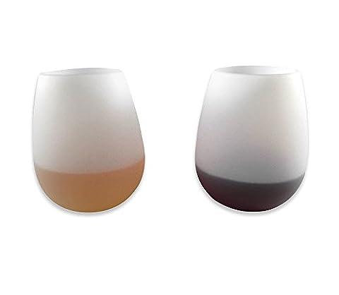 incassable Verres à vin Champagne Bière Bar fête Tasses (lot de 2)–Souple Lunettes, durable, sans pied gobelets 100% incassable, pliables