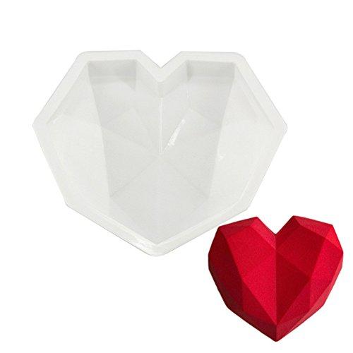 Diamond Love Silikon Formen Kuchen dekorieren Backen Werkzeug für 3D Schokolade Schwamm Kuchen Chiffon Mousse Dessert