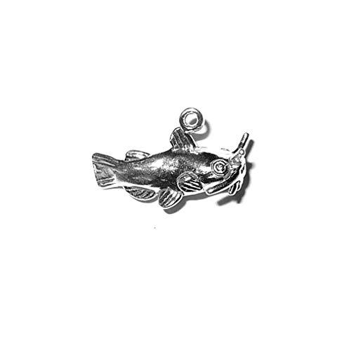 Schmuckprofessionals Anhänger Tiere Fisch Wels Charm aus 925 Sterling Silber -