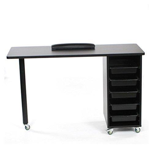 Urbanity Prime ongle Technician Table Bureau Manucure de salon Station de travail Noir