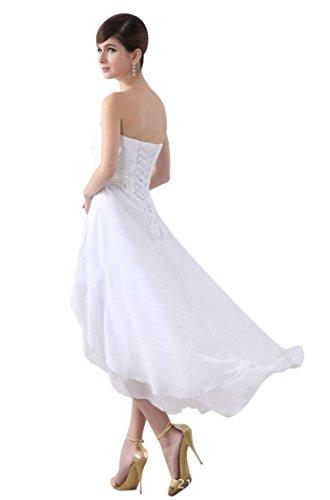 Beauty-Emily - Abito da sposa - Moda - Senza maniche  - Donna Marrone