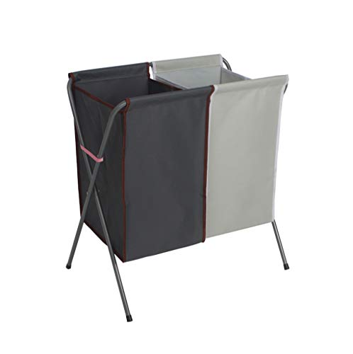 HXYL Groß wäschekorb Faltbare wäschesack wäschekorb wäschesammler mit wasserdicht mit 2 fächern für Badezimmer (61 * 36 * 56cm) (Farbe : #5)