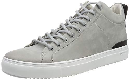 Blackstone Herren RM14 Hohe Sneaker Silber (Silver Scon), 46 EU