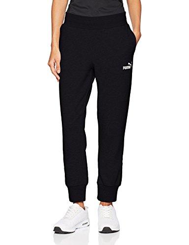 Puma Damen ESS Sweat Pants FL cl Hose, Schwarz (Cotton Black), 40 (Herstellergröße: L) - Schwarze Sweat