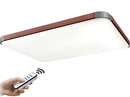 Natsen® 90W LED Deckenlampe Braun moderne Deckenleuchte Wandlampe dimmbar mit Fernbedienung 925mm*650mm I501H - 90w Led