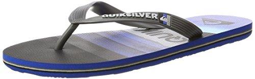 Quiksilver Herren Molokai Slash Logo Offene Sandalen, Schwarz (Black/Blue/Grey-Combo), 41 EU