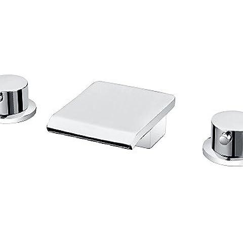 HJSRGGD-distanza - due maniglie cromate diffuso rubinetto vasca a cascata (0698-Y3-8015)