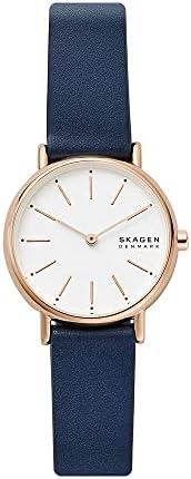 ساعة سكاجين للنساء كوارتز انالوج بسوار جلدي وشاشة عرض - SKW2838