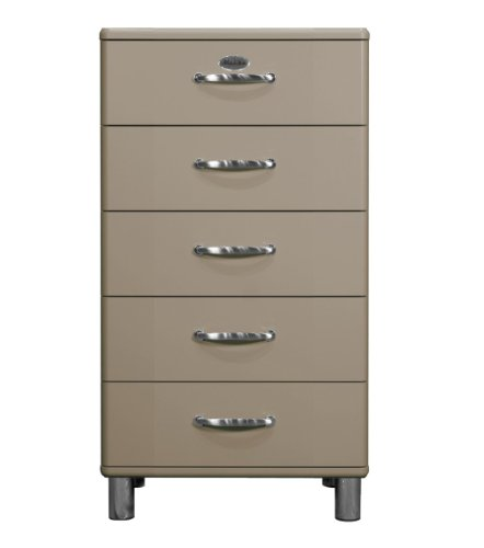 Tenzo 5215-019 Malibu, Designer Kommode, 111 x 60 x 41 cm, MDF lackiert, macciato