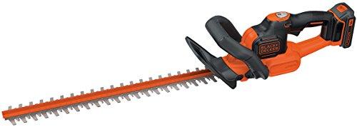 Black+Decker Akku Heckenschere GTC18502PC mit Antiblockierfunktion, Schnell-Ladegerät und hohem Bedienkomfort – 18mm Schnittstärke zum Schneiden mittelgroßer Hecken – 18V