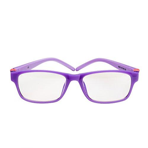 PROSPEK - KIDS COMPUTER BRILLEN: Anti Blaulicht Brillen für Kinder ab 4 Jahren (Movie Star - Lila)