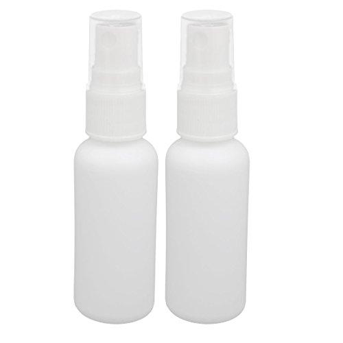 sourcingmap 30ml forme cylindre plastque PE Flacon pulvérisateur eau bricolage 2pcs blanc