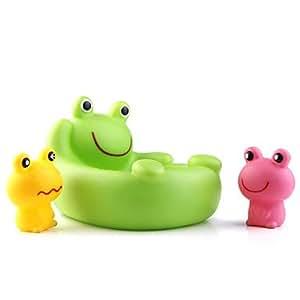 bacheter caoutchouc de douche de b b grenouille jaune vert rose jeux et jouets. Black Bedroom Furniture Sets. Home Design Ideas