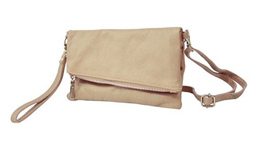 Clutch Bag4less Damen Venezuela, 3x33x19 Cm Beige