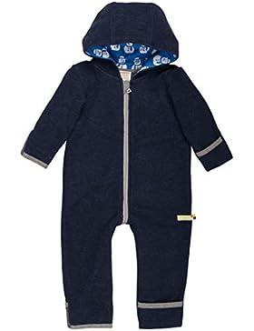 loud + proud Baby Overall aus warmen Bio Woll-Fleece und Bio Baumwolle. Vorne mit Reißverschluss, GOTS Zertifiziert