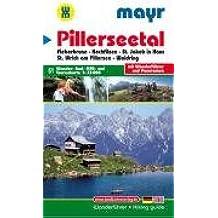 Pillerseetal: Wander-, Rad-, MTB- und Tourenkarte 1:35000 mit Wanderführer und Panorama