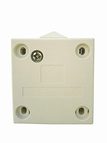 Interruptor de la puerta / [1Pack] SFTlite blanca Empuje de superficie para...