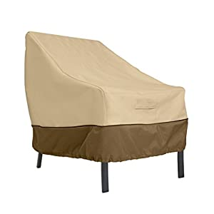 Classic Accessories 55-643-011501-00 Veranda Lounge/Club Chair Durable and Water Resistant Patio Furniture Cover, Pebble…
