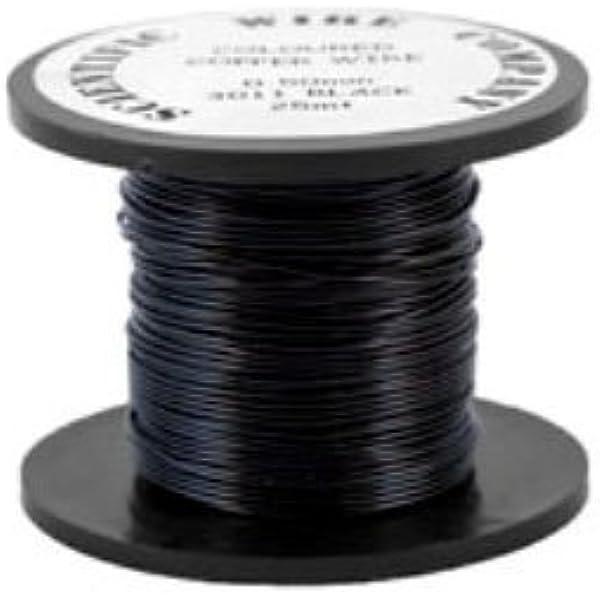 0.6mm Copper Craft Wire Black 6m Spool Accessory DIY Jewellery Making Crafts