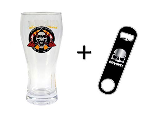 Call of Duty Bierglas (300ml) Glas Tumbler 0,3 Liter + Flaschenöffner (Air-combat-spiele Pc)