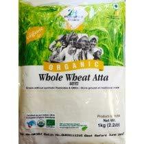 Organic Whole Wheat Chakki Atta Premium 1kg, EU, USDA and Indian Organic Certefied Test