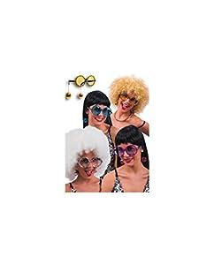 Generique - Gafas de Disco Gris Adulto, Talla Única