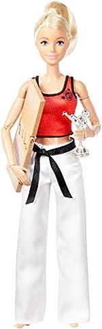 Mattel Barbie DWN39 - Made to Move Kampfsportkünstlerin Puppe