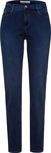 Strass-pocket-jeans (Brax Damen Mary Blue Planet Five Pocket Fit sportiv Slim Jeans, Blau (Slightly Used Regular 25), 44 (Herstellergröße: 44L))