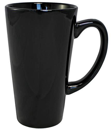 Iti Keramik Hoch Trichter Tasse Kaffee Tassen, mit Pfanne Schaber, 16Unze 16 ounce schwarz (Keramik Trichter)