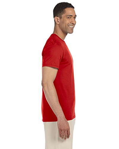 GILDAN -  T-shirt - Basic - Uomo 5 x Red