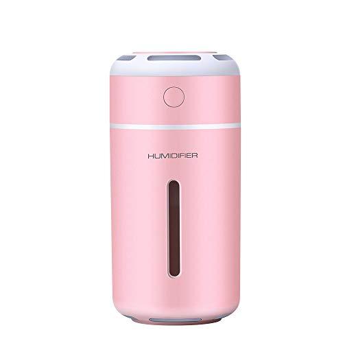 NNSL Luftbenutzer Ultraschall Zerstäuber Buntes Nachtlicht Mini-USB-Luftreiniger Auto Wasser Cup Aromatherapie Sprayer, Rosa - Wasser-dampf-cup