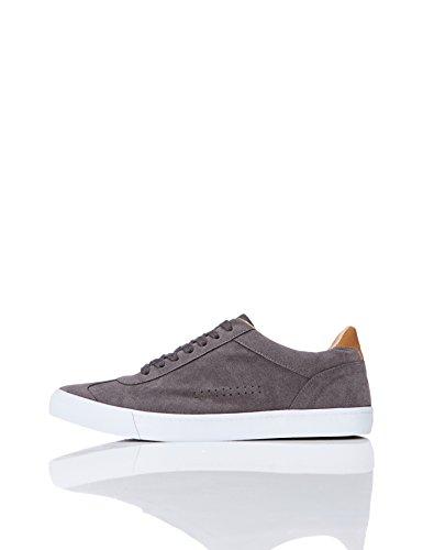 Find sneaker basse in pelle scamosciata uomo, grigio (grey), 43 eu