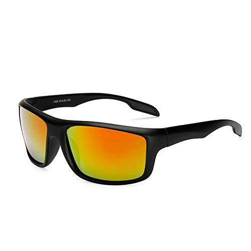 Herren Sonnenbrillen Polarisierte Sonnenbrillen für Herren Laufende Sportfischen-Brillen-Windschutzscheiben-Sonnenbrillen der Männer im Freien LTJHJD (Color : Rot)