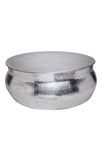 MAADES Wohnzimmertisch Couchtisch rund modern aus Metall ø 90cm | Marokkanischer runder Vintage...