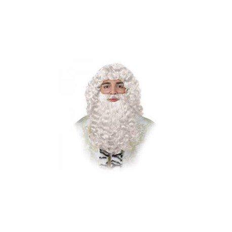 Peluca Rey Mago blanca rubia alta Calidad