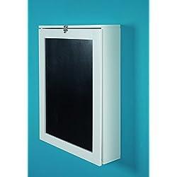 Phoenix York Bureaux avec Ardoise, Blanc, Bois, Laque, 15,5x60x75 cm